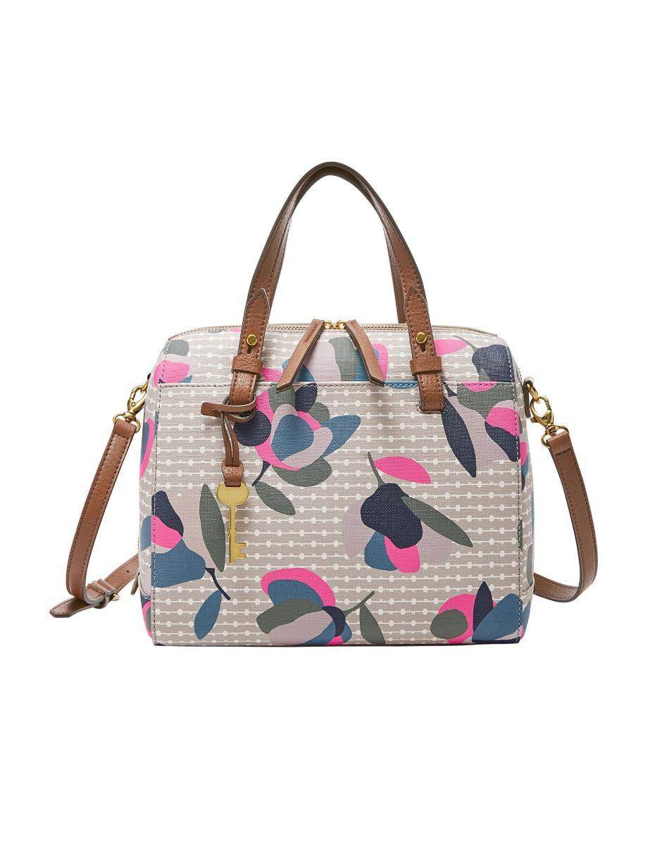 432619a94aa4 Bolsa satchel con diseño gráfico Fossil
