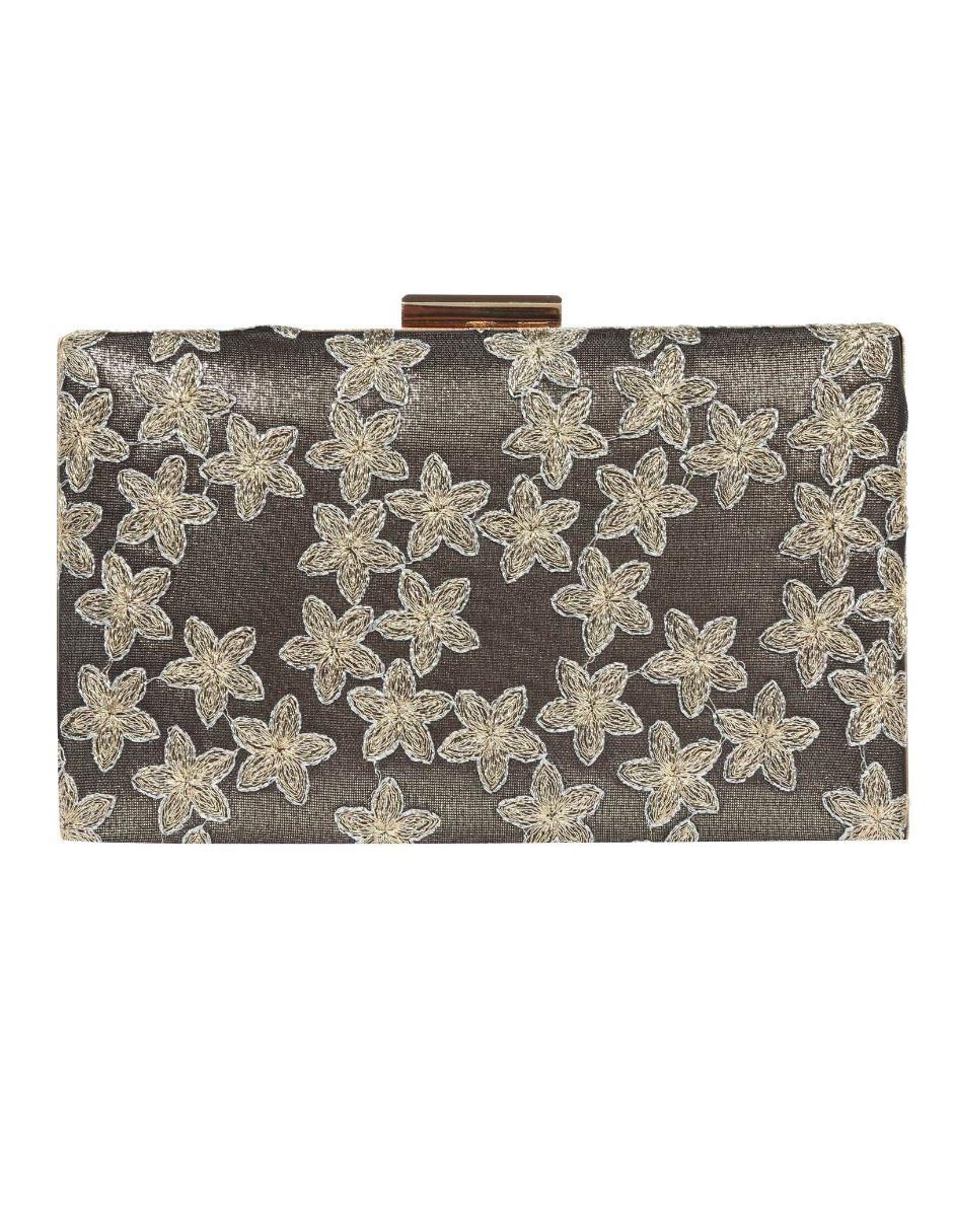 bbeaa25dde Bolsa clutch Sasha broche con diseño floral