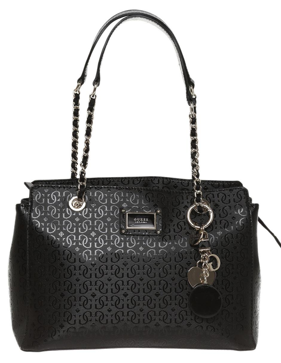 0741588b Bolsa satchel Guess cierre negra logotipo | Liverpool es parte de MI vida