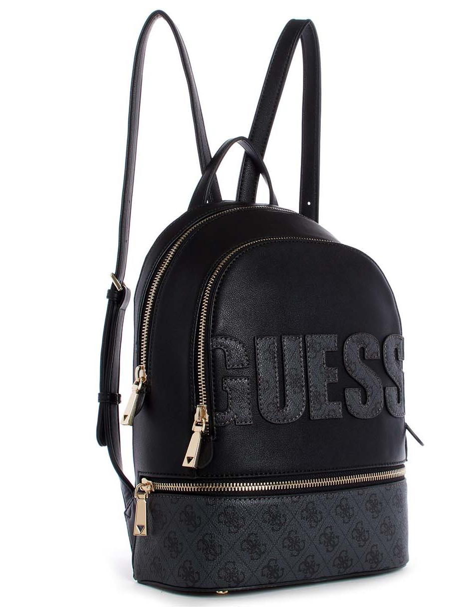 diseño de calidad 5fdab ea889 Mochila Guess negra logotipo